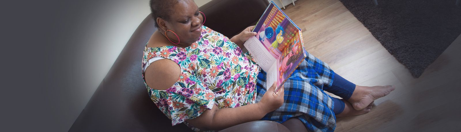 Jackie lives in a studio flat at Prince Regent - Precious Homes Autism-Specific residential service in Newham