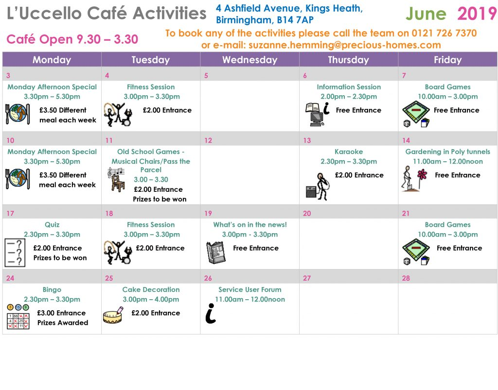 Microsoft Word - Luccello Cafe Calendar of Events - June 19.docx
