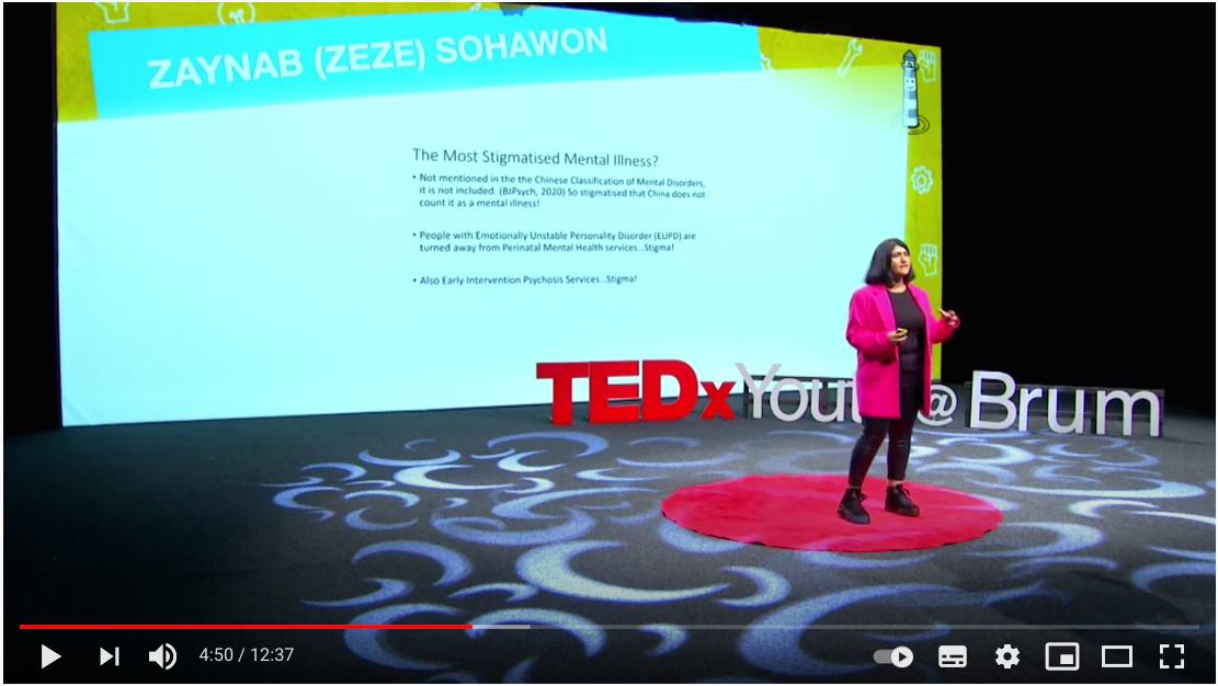 Watch ZeZe's talk on suicide prevention and personality disorder awareness