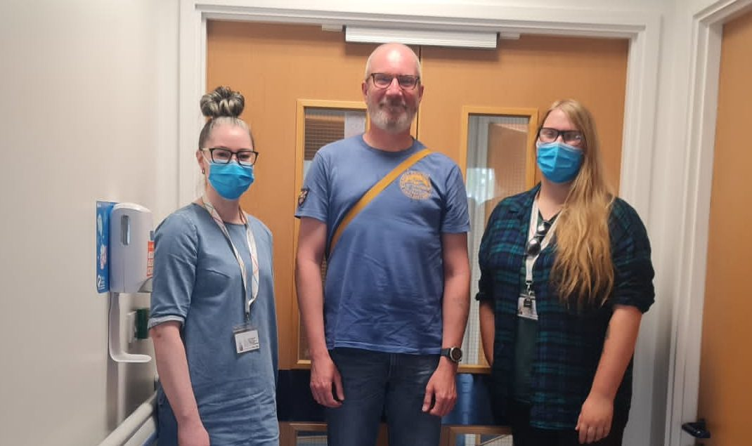 L to R:  Jenny, James and Vicky after the workshop at Russells Hall Hospital